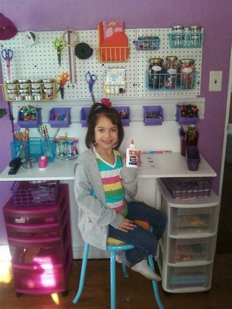 diy toddler desk diy desk using tool organizers and stool i suggest this would work for a grownup