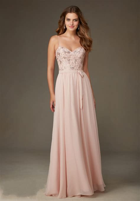 Bridesmaids Dressers by Chiffon Blush Pink Bridesmaid Dresses 2016 Sweetheart Spaghetti Straps Beading