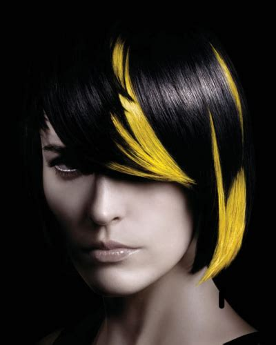 color blocked hair block yellow and black hair colors ideas