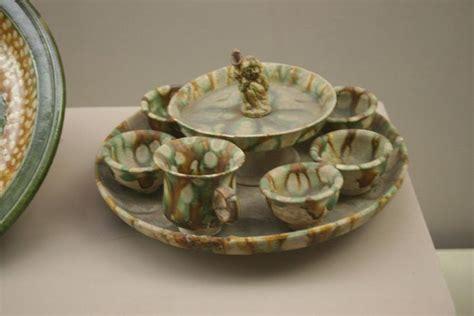 Sancai Set tang dynasty sancai pottery cup set ceramics 6th 10th