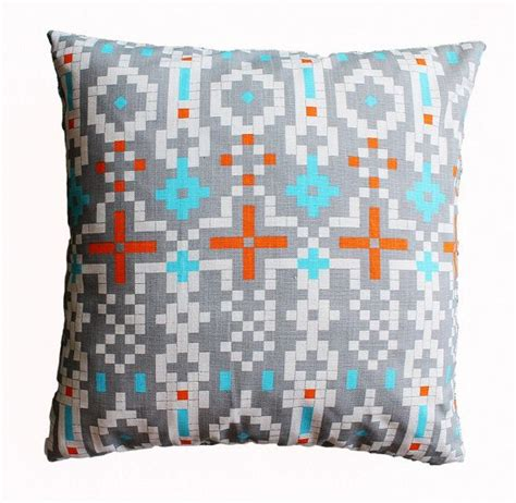 decorative pillows for bed clearance clearance sale tribal aztec gray pillow cover 18 x 18