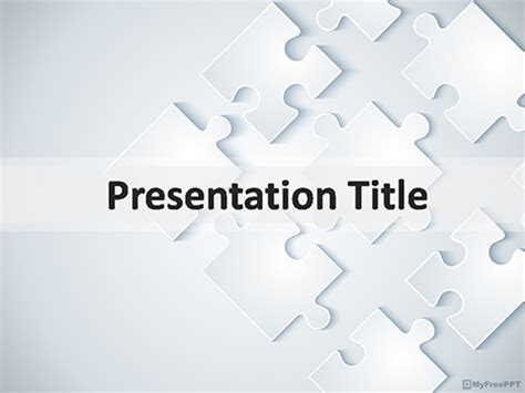 free puzzle pieces powerpoint templates myfreeppt com