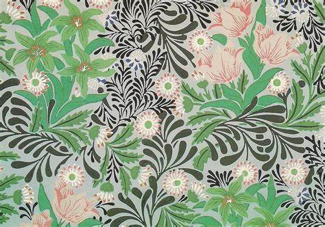 Victorian Shower Bath floral design tapestry textile by william morris