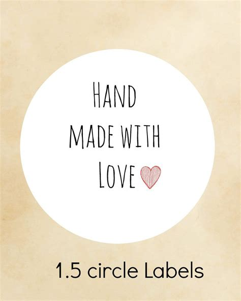 made with love labels hand made with love stickers stickers custom stickers