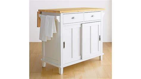 belmont white kitchen island reviews crate and barrel