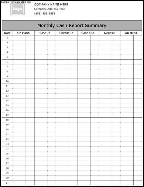 monthly summary report template monthly report summary template sle templates