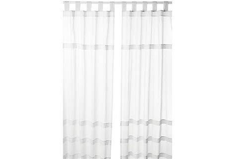white cotton tab top curtains tab top cotton curtain panel white on onekingslane com for the home pinterest tops