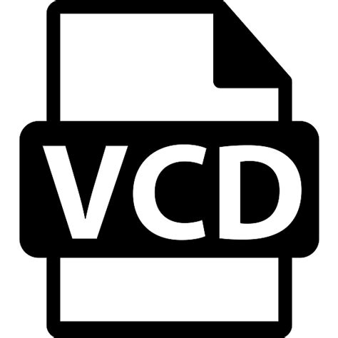 format vcd vcd file format variant free interface icons