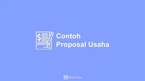contoh proposal usaha makanan bisnis plan kuliner