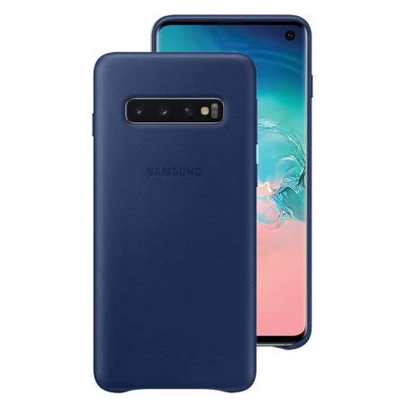 Samsung Galaxy S10 Leather by Official Samsung Galaxy S10 Leather Cover Navy