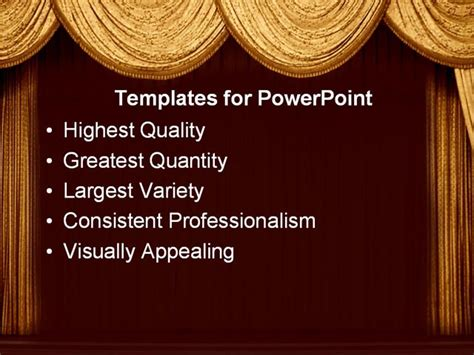 Gold Theater Curtains Powerpoint Template Background Of Theater Drama Art Theatercurtains Microsoft Powerpoint Templates Theatre