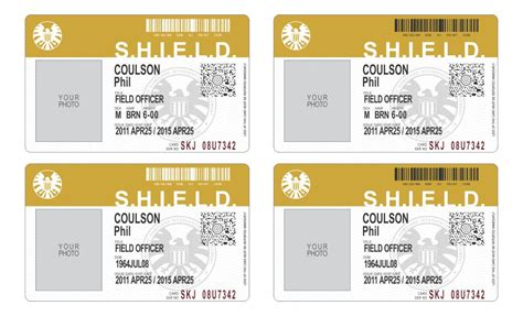 shield id card template agents of shield id cards images