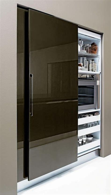 sliding door design for kitchen sliding fridge door kitchen designs to die for