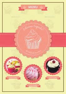 cupcake menu template bifold cupcake menu template vol 2 by avindaputri