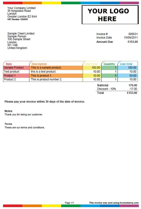 Irrigation Design Software Free new invoice template colour play invoiceberry blog