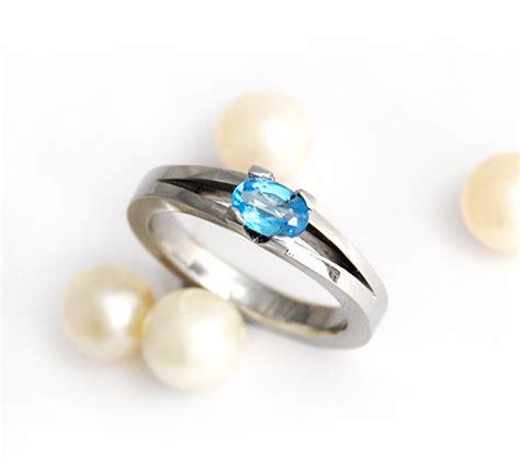 heavenly blue tones of topaz for engagement rings