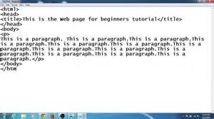 how to create your web page using notepad
