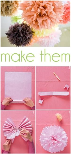 How To Make Truffula Trees Out Of Tissue Paper - how to make tissue paper pom poms truffula trees