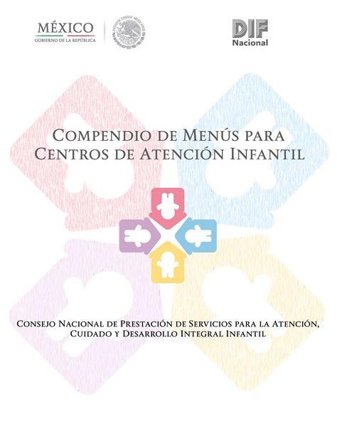 gu a de alimentaci n compendio de men 250 s para centros de atenci 243 n infantil