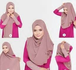 tutorial segi empat rawis simple tutorial hijab syar i segi empat simple dan kekinian
