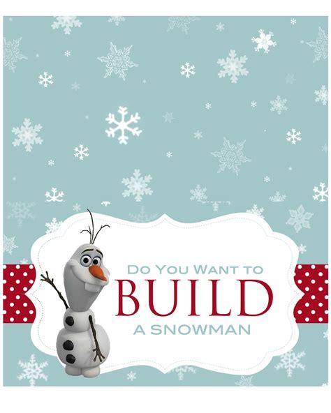 printable olaf build a snowman let s build a snowman kit with free printable olaf