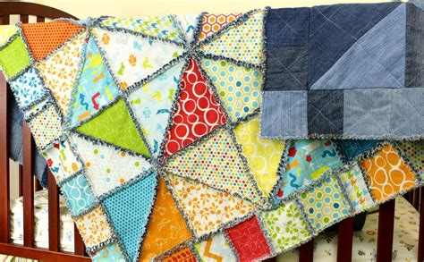 Half Triangle Quilt Patterns by Half Square Triangle Rag Quilt By Edofsahm Craftsy