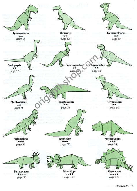 How To Make Origami Dinosaur Triceratops - book dinosaur origami montroll