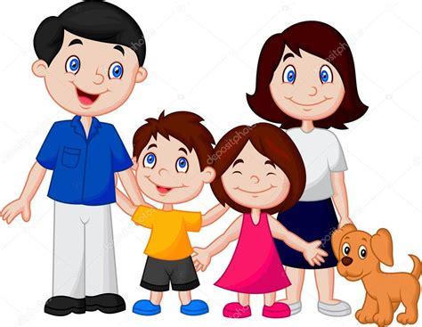 imagenes de la familia sin color dibujos animados familia feliz archivo im 225 genes