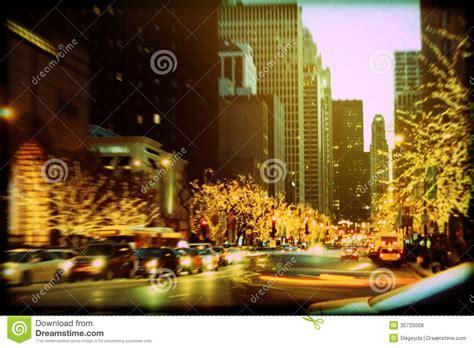 Holiday Lights On Michigan Avenue Stock Photo Image Michigan Avenue Lights