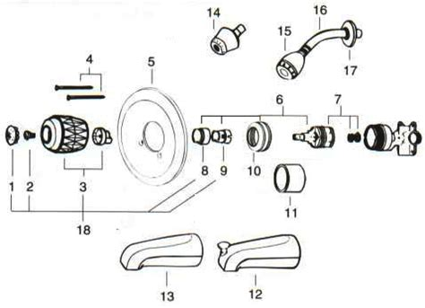 bathtub faucet parts diagram bathtubs faucets parts reversadermcream com