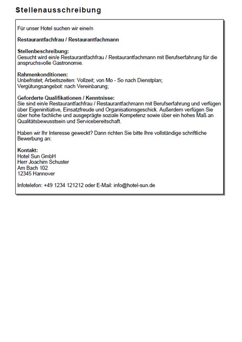 Lebenslauf Muster Restaurantfachfrau Bewerbung Restaurantfachfrau Ungek 252 Ndigt Berufserfahrung Sofort