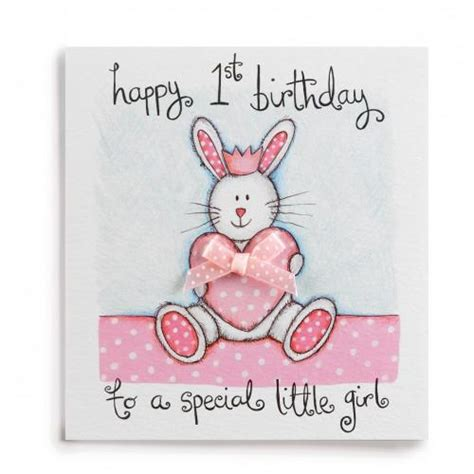 1st Birthday Cards 1 Special Little Girl Handmade 1st Birthday Card 163 2 60