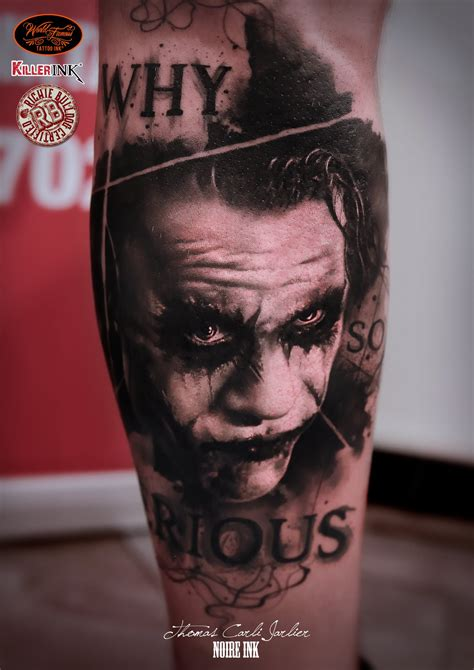 tattoo joker why so serious joker on forearm by carli jarlier