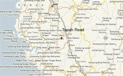 location road map tapah road location guide