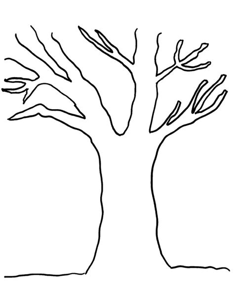 coloring page tree trunk bare tree template cliparts co