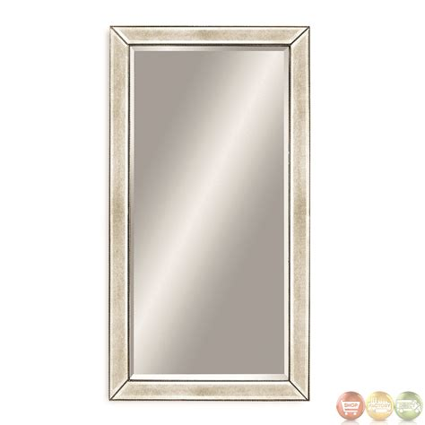 Linon Home Decor by Beaded Extra Large Leaning Floor Mirror M2546bec
