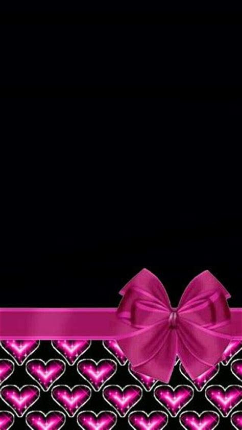 wallpaper with pink bows pink heart bow wallpaper ĉutiբy ŵɑʆʆpɑpɛʀร