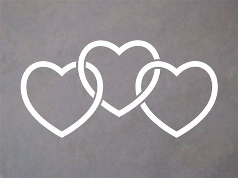 3 intertwined heart tattoo designs 17 best ideas about 3 hearts on