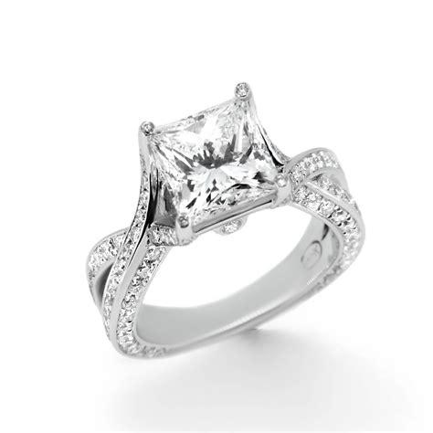 princess cut twist band engagement ring haywards