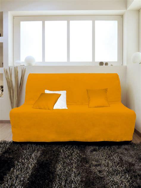 Housse Canapé 150 by Housse Pour Canap 233 Bz Adaptable Couleur Orange Pas Cher