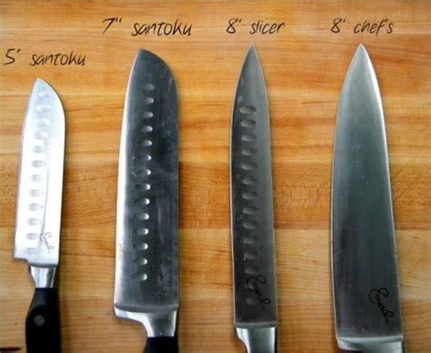 different types of kitchen knives and their use