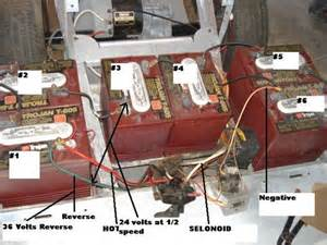 here is the batteries and their numbers with the 36 volt shown club car wiring