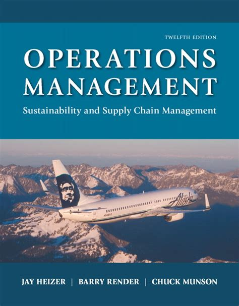 Operations Management Books For Mba by Heizer Render Munson Operations Management