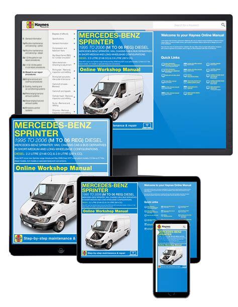 online car repair manuals free 1995 mercedes benz s class parking system mercedes benz sprinter 1995 2006 car repair manuals haynes publishing