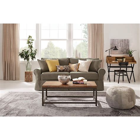 home decorators sofa home decorators collection riemann pearl polyester sofa