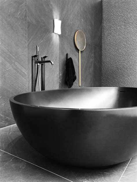 badewanne schwarz luxury bathtub black colour bathroom furniture