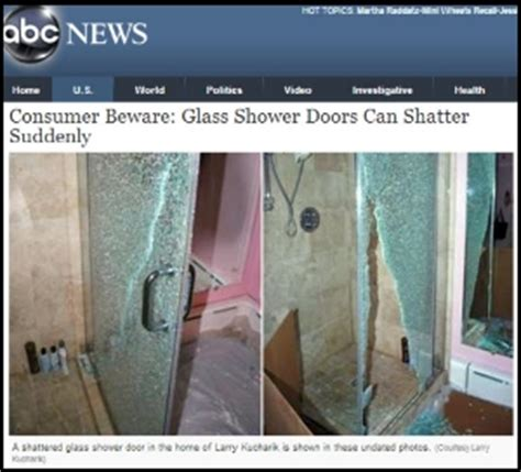 Glass Shower Door Suddenly Explodes Abc