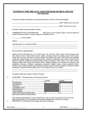 buying a house on contract in indiana real estate purchase agreement indiana fill online