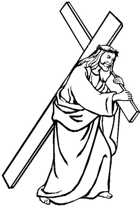 coloring pages of jesus carrying the cross good friday coloring pages jesus carrying cross batch