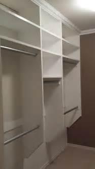 walk in closet make on budget closet shelving